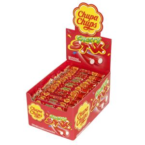150 x Cherry Stix Chupa Chups Fruit Flavoured Sweets - Wholesale Box